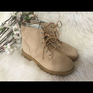 Divided Beige Suede Boots
